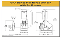 GFA-Series Film Scrap Grinder with Air Bypass - 2